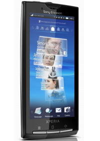 The Sony Ericsson Xperia X10 with Android OS